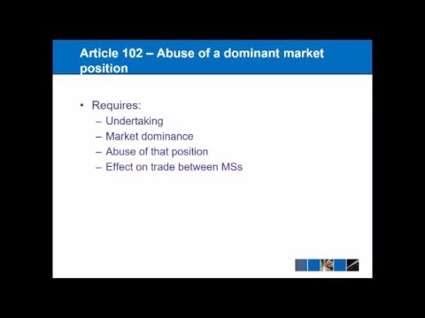 EU Competition Law - Articles 101 and 102