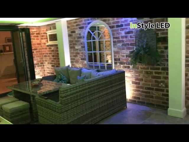 LED conservatory walkthrough - RGBW LED strip lights / RGB LED down lights