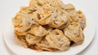 Узбекские манты(Узбекская кухня. Как приготовить узбекские манты. Ингредиенты, способ приготовления, пошаговый рецепт:..., 2014-12-04T09:08:48.000Z)