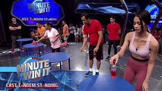 Mini Stick The Landing | Minute To Win It - Last Tandem Standing