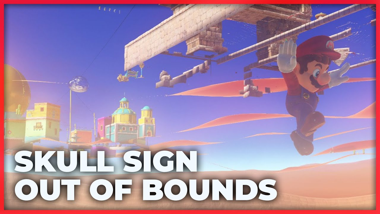 Sinking Under Sand Kingdom! | The Skull Sign Out of Bounds Glitch in Super  Mario Odyssey