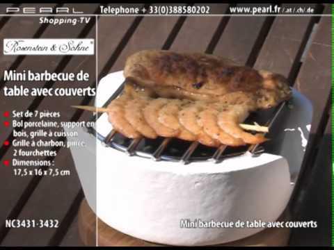 Achat Mini Barbecue de Table avec Couverts |