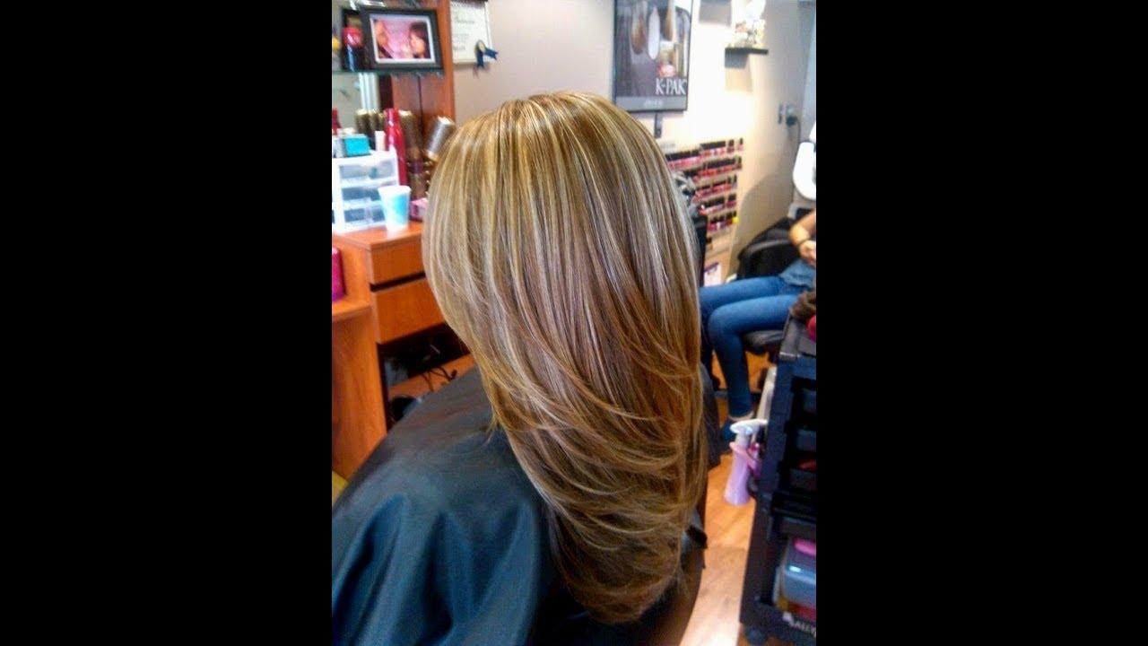 Haarfarbe Braun Mit Blonden Strähnen Frisuren Braun Mit