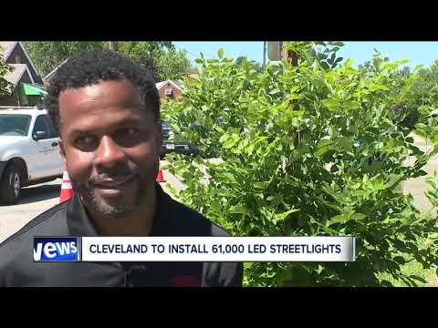 City of Cleveland spending $35 million to install LED streetlights, cameras