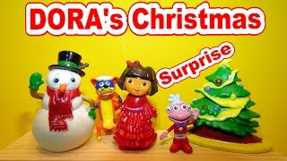 Dora The Explorer Christmas Special 9 Surprise Eggs Opening With Swiper Boots And More