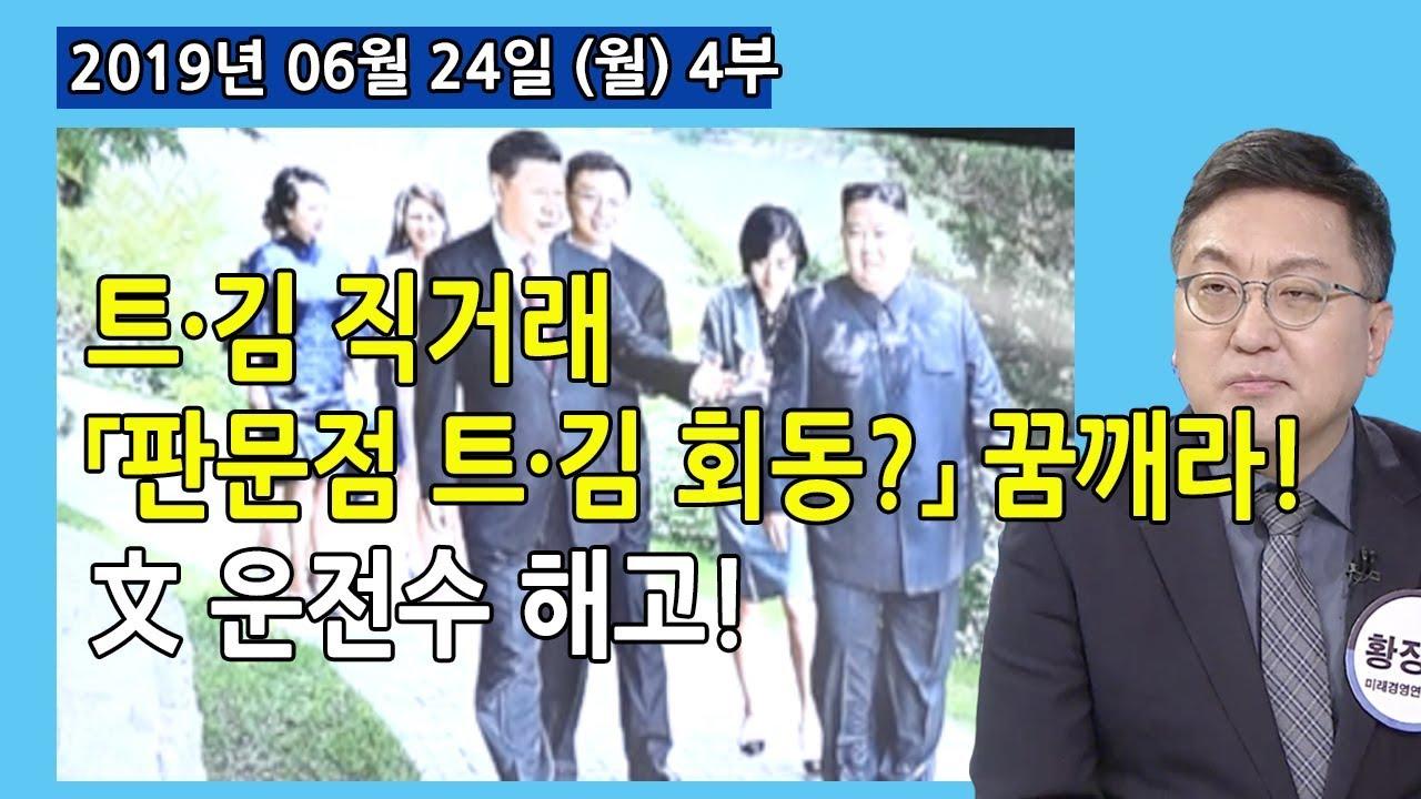 4부 트·김이 친서로 직거래  「판문점」 에서 「트·김 회동」 ? 꿈깨라! 文 운전수 역할해고? (2019.06.24) [세밀한 안보]