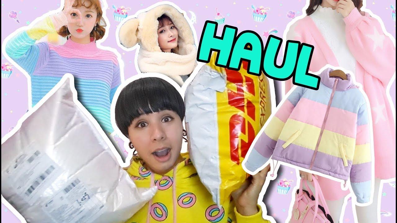 ❤CUTE & COLORFUL Winter Clothing HAUL ❤ PASTEL KAWAII decora, fairy kei, Lolita❤ Spreepicky DogDog 1