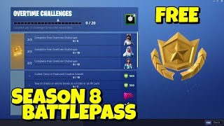How to get SEASON 8 BATTLEPASS FOR FREE in Fortnite