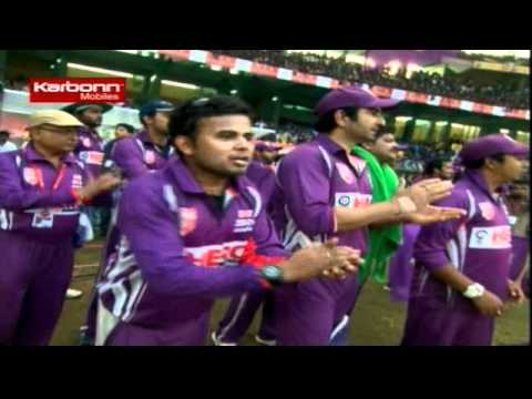 CCL 2 Bengal Tigers Vs Chennai Rhinos Inngs2 Over 19
