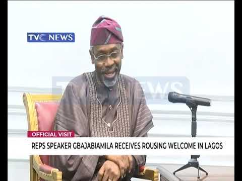 House of Reps speaker, Femi Gbajabiamila receives rousing welcome in Lagos
