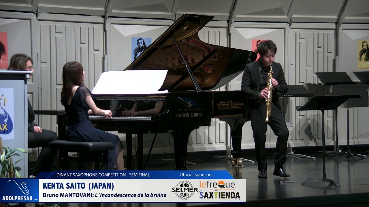 Kenta Saito (Japan) - L´Incandescence de la bruine by Bruno Mantovani (Dinant 2019)