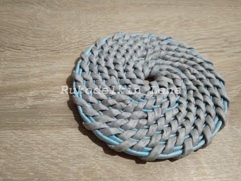 👉Корневое плетение для новичков/урок1/подставка под кружку/из газетных трубочек