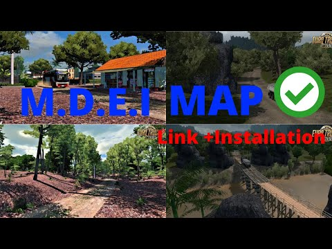 Euro Truck Simulator 2 [mod] MDEI (Map Desa Extreme Indonesia) Small Map For ETS2 1.35