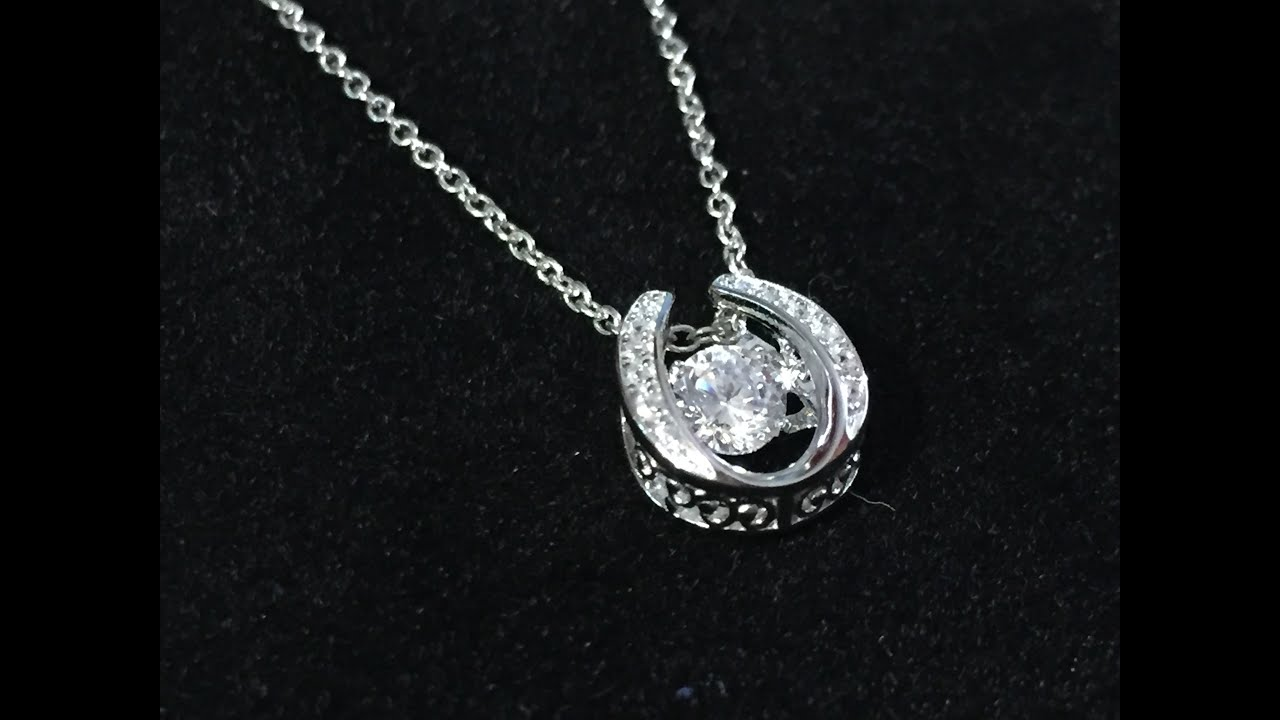 product for heart sterling gold dancing pendant mabellajewelry mabella silver double women rose shop rakuten necklace plated stone