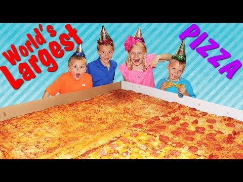 WORLDS LARGEST PIZZA