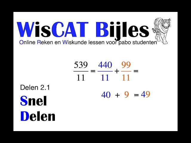 Snel Delen - WisCAT Werkboek: Delen 2.1