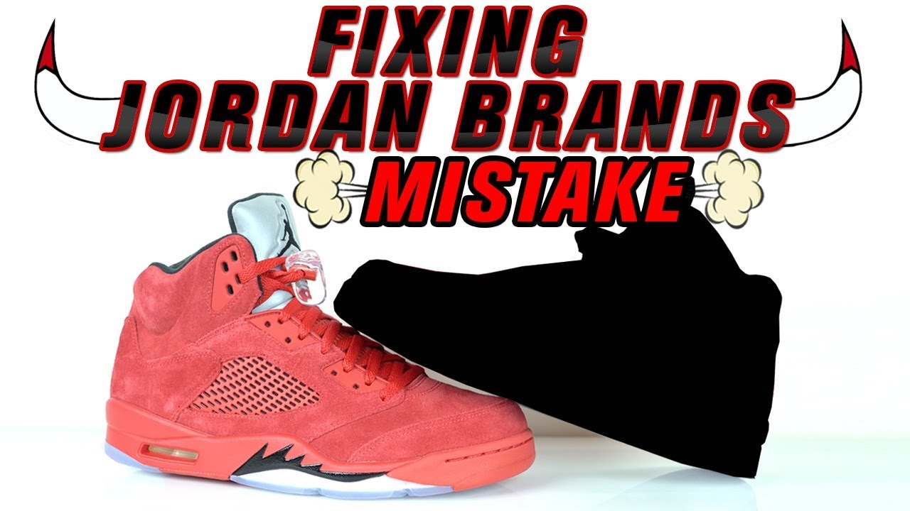 a9368227aef8 Fixing Jordan Brands Mistake - Raging Bull 5 Custom by Vick Almighty ...