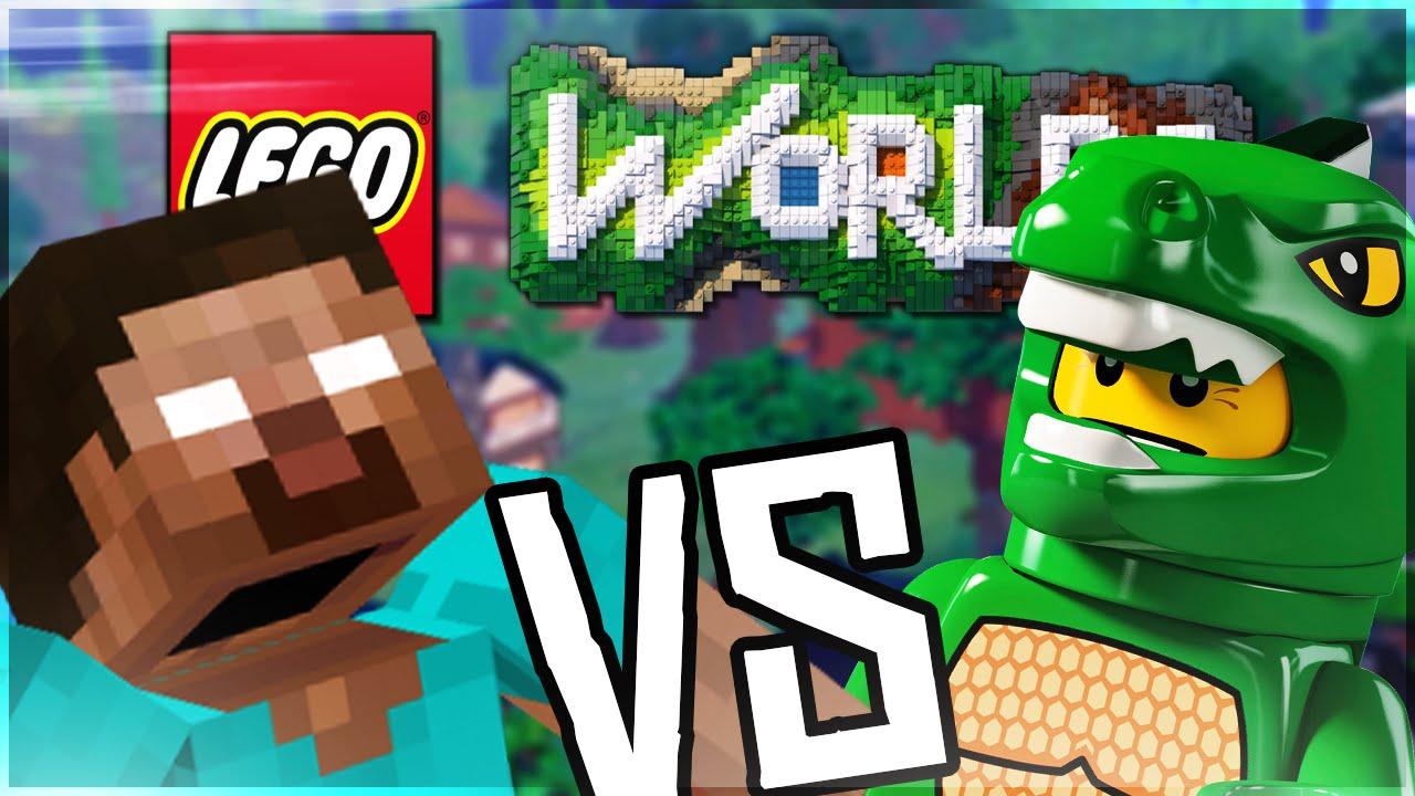 Lego Vs Minecraft Lego Worlds Lets Play Pl Youtube