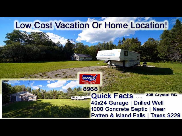 Low Cost Real Estate In Maine | 305 Crystal RD Crystal ME MOOERS REALTY  #8968