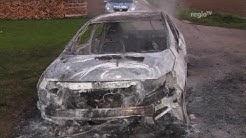 Wer ist der verbrannte Mann? Verkohlte Leiche in Wageninneren gefunden. (Regio TV Schwaben)