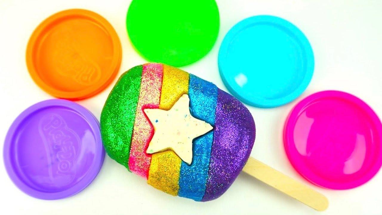 Лепим мороженое из пластилина  Видео для детей