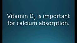 How to pronounce vitamin D3 (Memorizing Pharmacology Flashcard)
