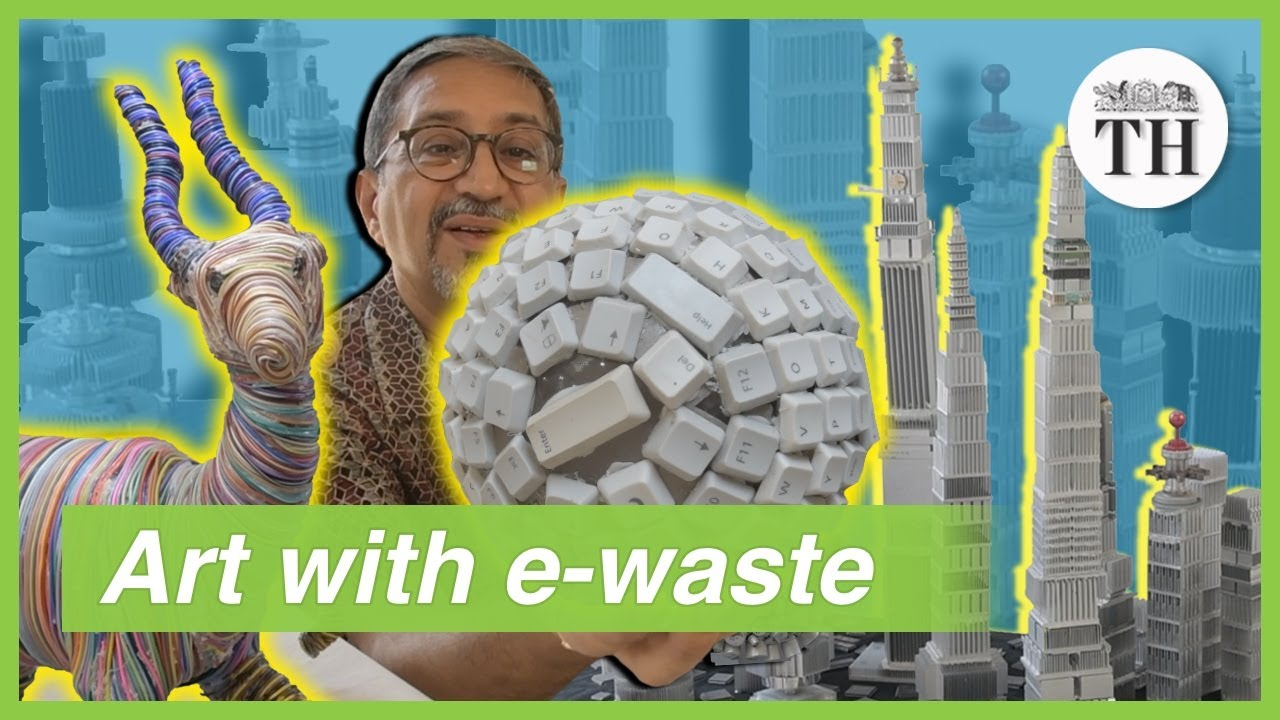 Creating amazing art from e-waste