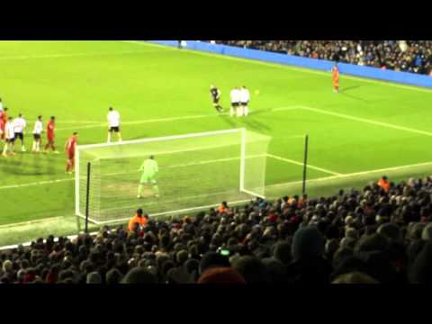 Fulham v Liverpool 2014 Rare Fans Footage Gerrard Penalty to Win Thriller 3-2