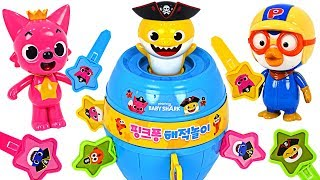 Let's play Baby Shark Pirate play roulette~! Baby Shark vs Mommy Shark Who will win?   PinkyPopTOY