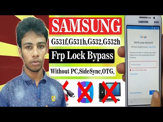 HOW TO SAMSUNG G531H FRP BYPASS Without PC - YouTube