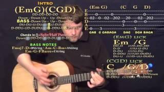 See You Again (Wiz Khalifa) Guitar Lesson Chord Chart - Capo 3rd