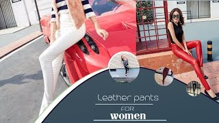 Latest Style Leather Leggings  Skinny Pants for Women and Girls