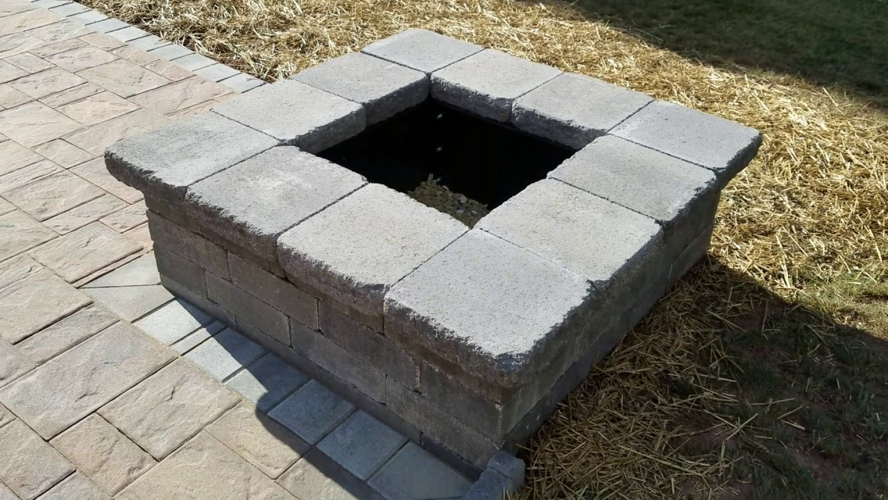 Cambridge Pavers with ArmorTec Ledgestone Patio - Olde English Fire Pit -  Dreamscape Outdoors LLC