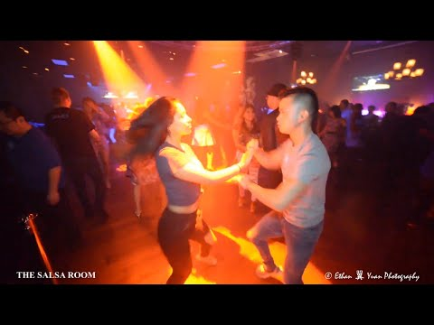 BRIAN LE & ADRIANA OROZCO  Bachata Social Dance At THE SALSA ROOM