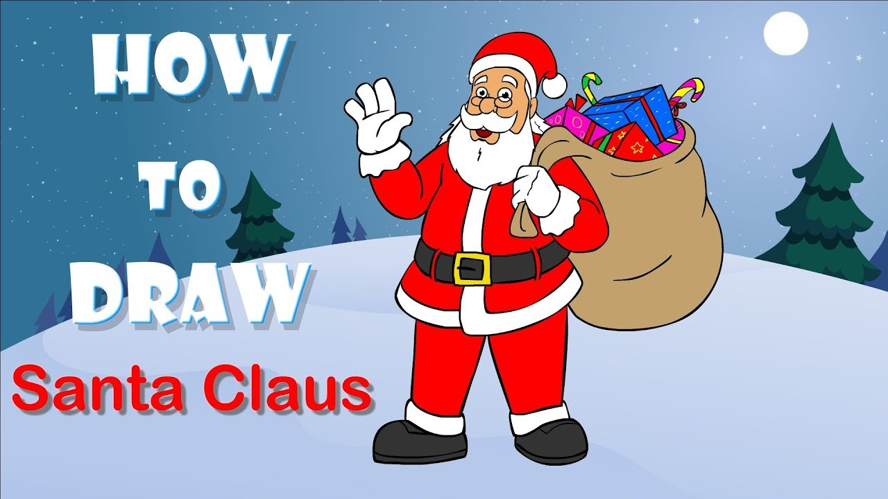 how to draw santa claus learn drawing for children digital art for kids youtube how to draw santa claus learn drawing for children digital art for kids