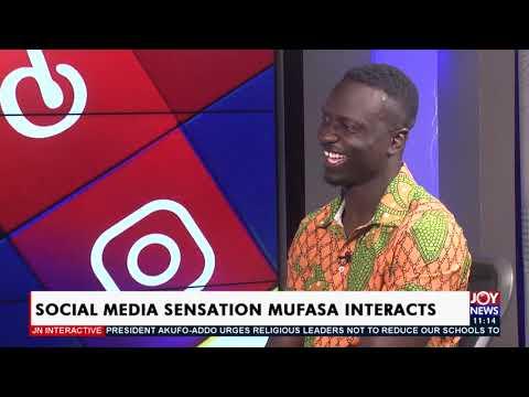 Social Media Sensation Mufasa Interacts - JoyNews Interactive (14-5-21)