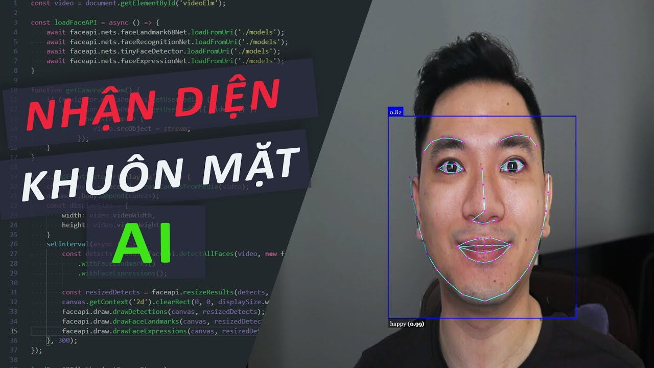Lập trình nhận diện khuôn mặt real-time bằng JavaScript trong 15 phút