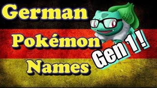 German Pokémon names Part 2! - Bulba Tube