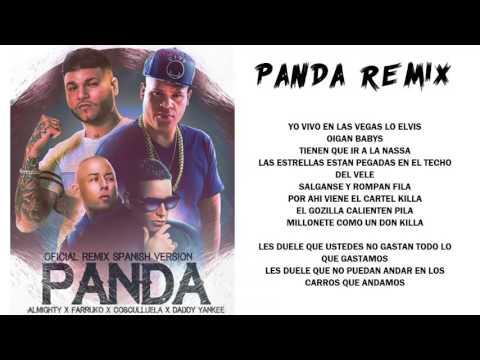 Panda Remix - Almighty ft Farruko, Daddy Yankee y Cosculluela [Video Con Letra]