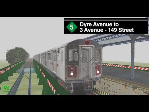 OpenBVE Preview: R142 (5) from Dyre Ave to 3 Ave - 149 Street via Bronx Express