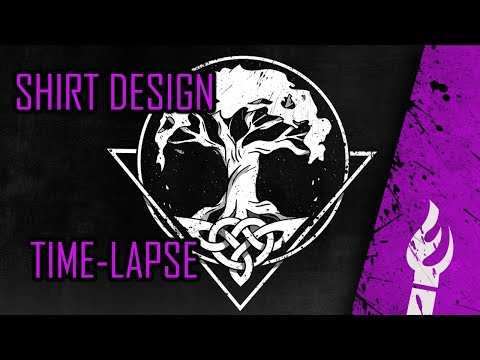Design your own tree of life metal Shirt - Yggdrasil design - Time-lapse