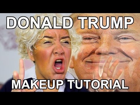 DONALD TRUMP MAKEUP TUTORIAL - YouTube