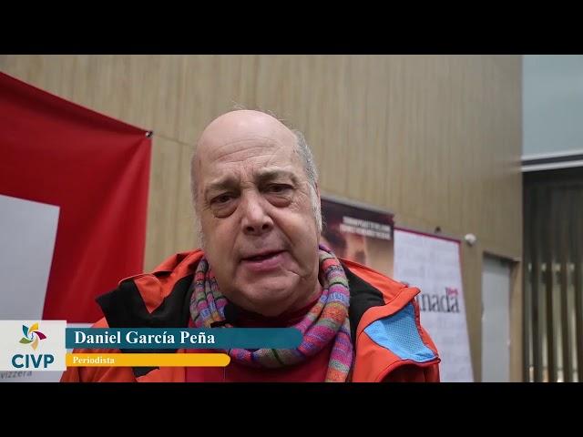 Daniel García Peña saluda a la CIVP