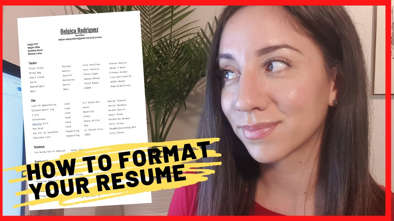 Acting Resume Example How To Make An Actor S Resume Free