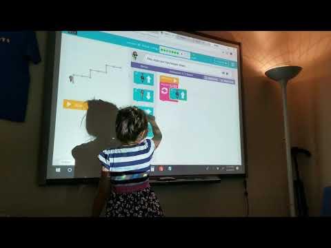 Coding on Smart Board is Fun - Sunshine STEM Academy Micro School