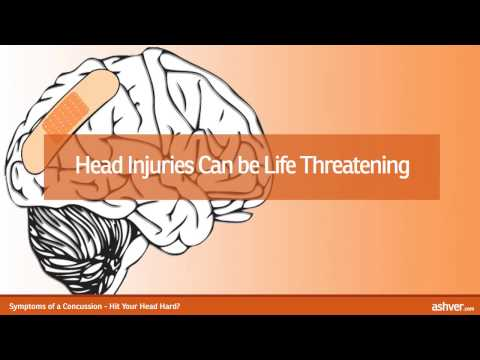 Symptoms of a Concussion - Hit Your Head Hard