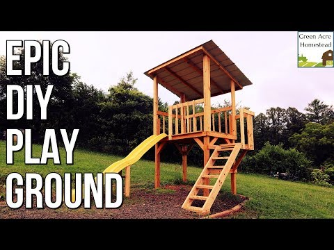 Build an EPIC Backyard Playground Treehouse!