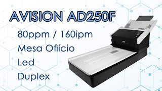 Scanner Avision AD250F - 80ppm - Duplex - Mesa Of cio
