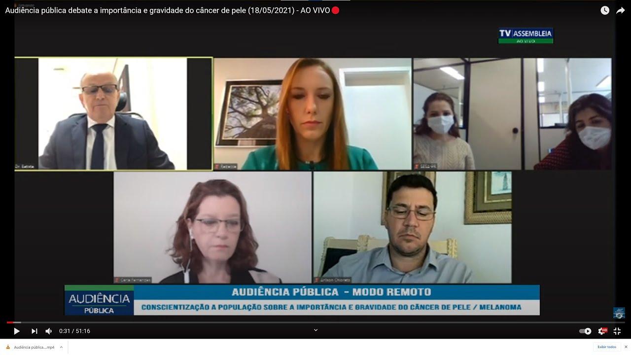 Audiência Pública Melanoma - Assembleia do Paraná