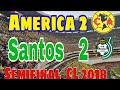 America vs Santos  2 - 2 Semifinal Estadio Azteca | EL color de la ELIMINACION